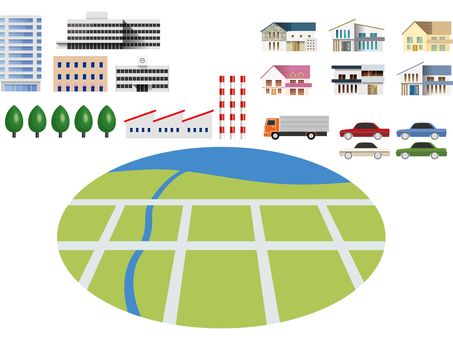 Townscape (street) creation set-01