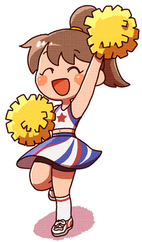 Cheerful cheerleader