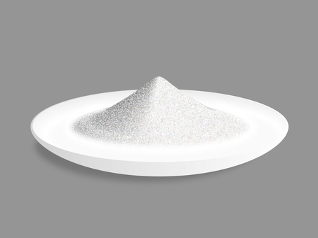 Powdered white plate