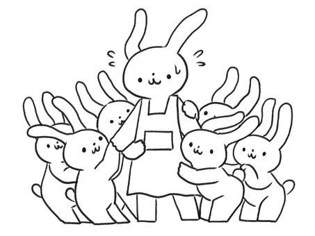 [선] 保育士 님을주고 토끼