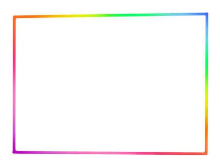 Rainbow 【frame】 fine