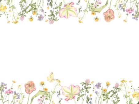 Flower frame 242 - cute flower frame 2 decorative frame