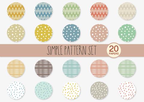 Simple pattern set 01