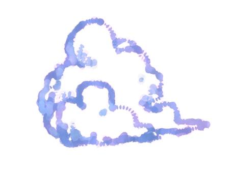 Cloud watercolor