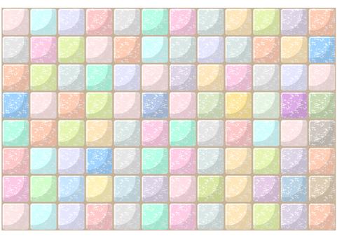 Pastel color tile full background