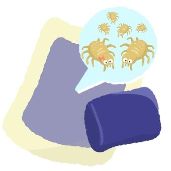 寝具とダニの繁殖