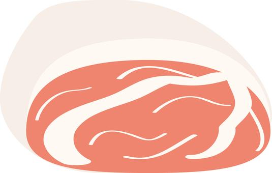 Food series meat pig
