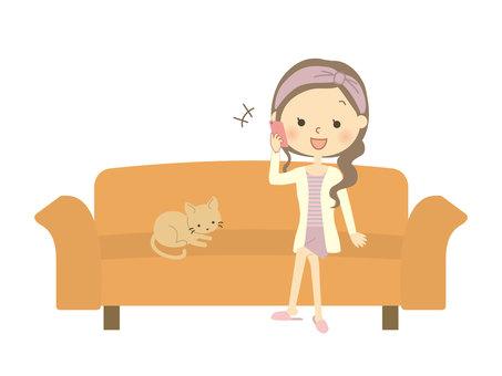 소파에 앉아 여성 11