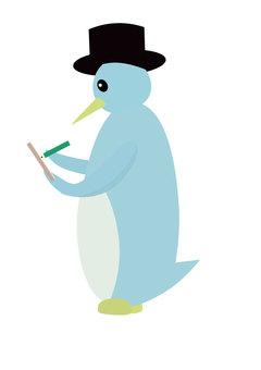 Writing penguin