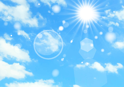 푸른 하늘과 태양의 질감