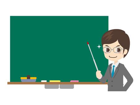 B029_男教師と黒板