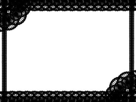 Lace frame black
