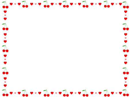 Cherry ornament frame 2