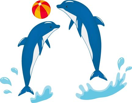 Dolphin beach ball blue