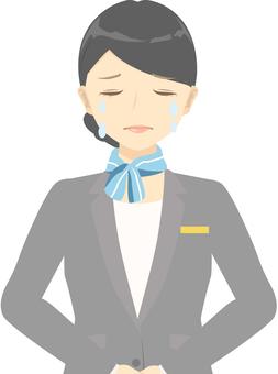 Reception staff / tears
