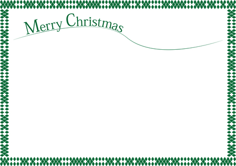 Christmas frame 【green】