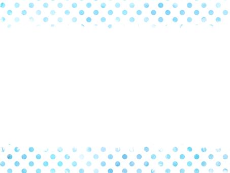 Watercolor dot frame 1 light blue