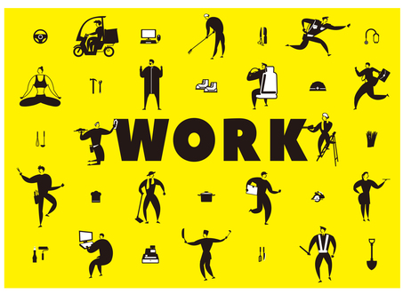 Expressed by working people patterns