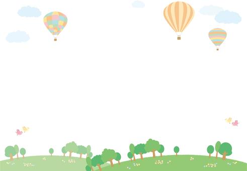 풍선 풍경 (배경 투명)