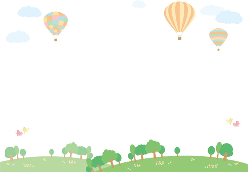 Balloon landscape (background penetration)