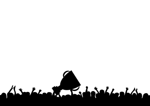 Trophy audience silhouette