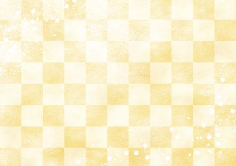 Checkered pattern gold