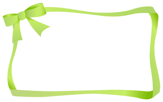 Ribbon frame yellow green