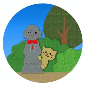 Cat and Jizo