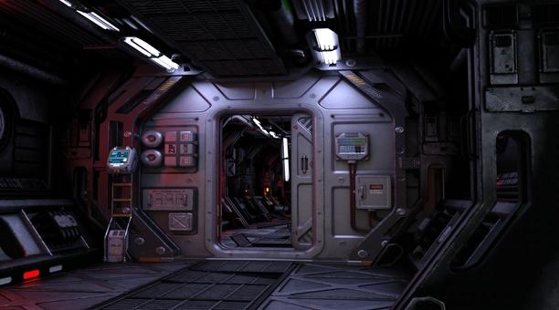 宇宙船内通路(corridor)