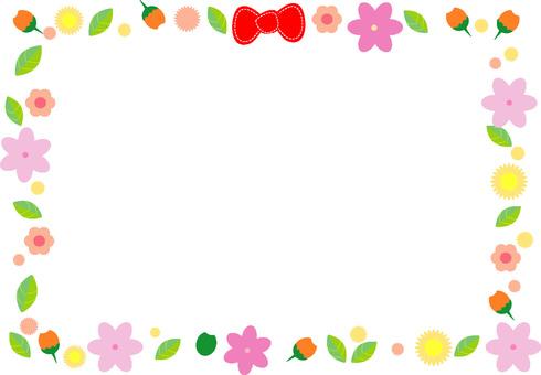 Flower colorful frame
