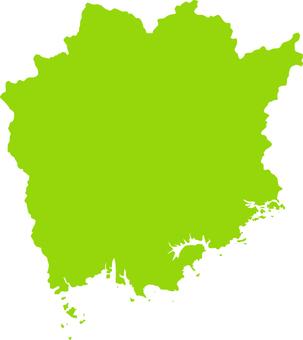 Okayama prefecture _ silhouette _ yellowish green