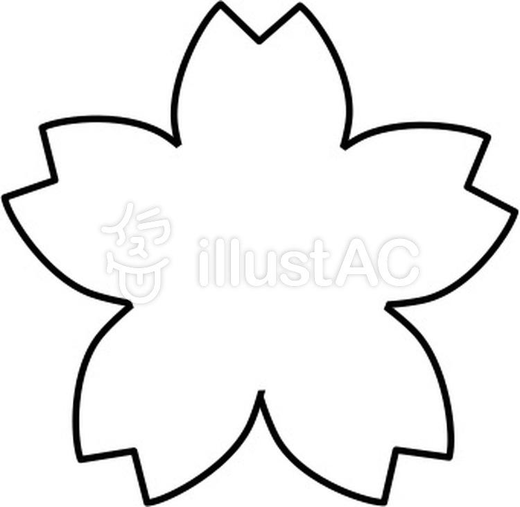 すっきり桜の白黒フレーム