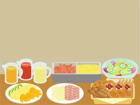 Breakfast buffet frame