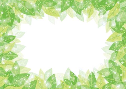 Glittering leaf frame 01