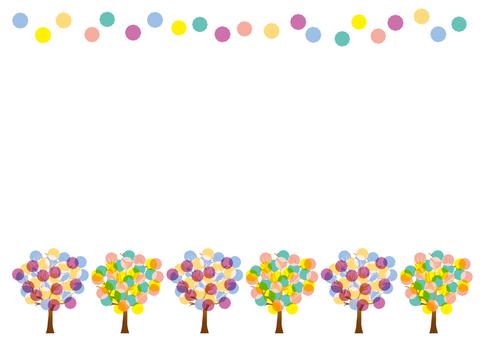 Pastel tree frame