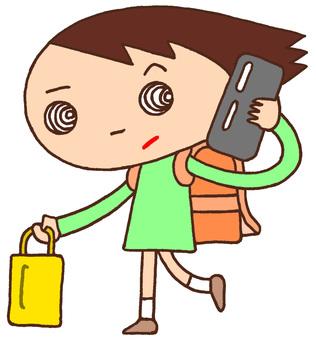 Elementary school character character phone