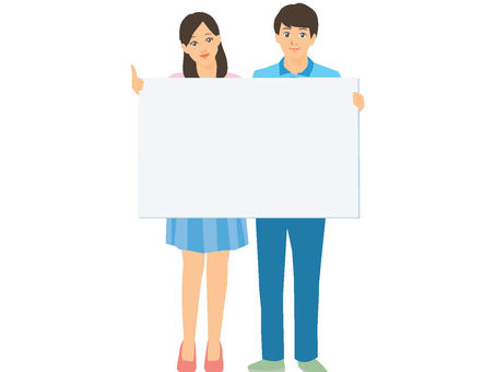 Board holding male and female whole body