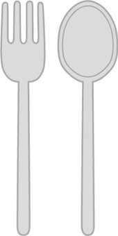 Set of fork and spoon