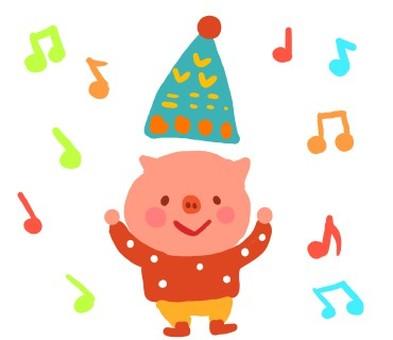 Grateful pig