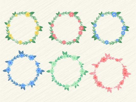6 kinds of flower wreath set