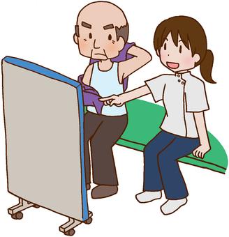 【Rehabilitation】 Dress changing exercise