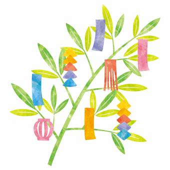 Tanabata decoration rightward