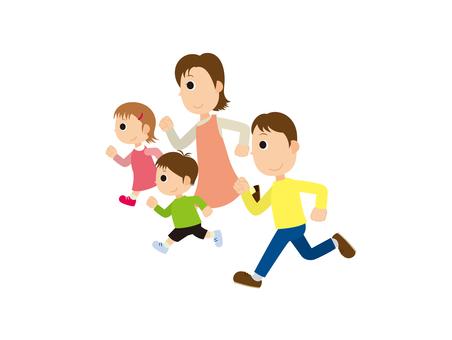 4 people run family 2