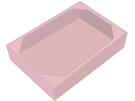 Cardboard pink