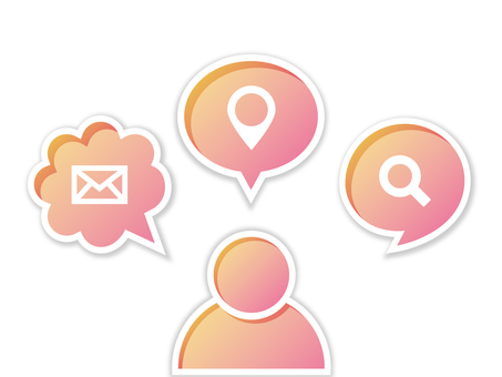 Business speech bubble icon pink