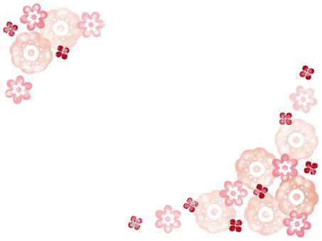 お花のスタンプフレーム001