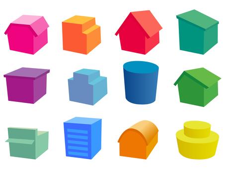 Colorful building clip art