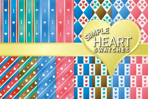 Simple heart pattern