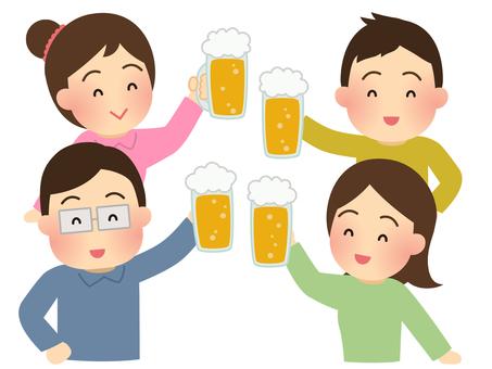 Illustration of people drinking
