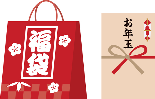 Lucky bag and new year's bag